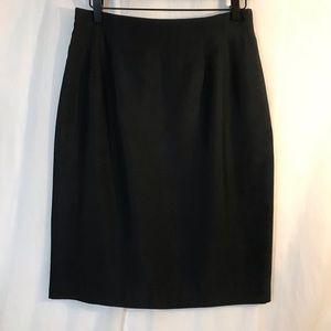 Ann Taylor Black Silk Skirt